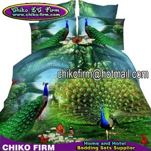 China Animal Designs Printing Colorful Wholesale Polyester 3D Bedding Sets on sale