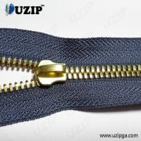 China No.5 hot sale gold metal continuous corn zipper for purse and bags on sale
