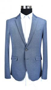 China Slim Fit Mens Knit Blazer , Gray Knit Blazer Half Lining Blue Mix Adults on sale