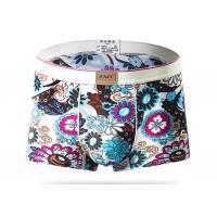 Low Waist Short Stretch Mens Patterned Underwear , Nylon Male Boxer Briefs