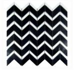 black and white marble mosaic tile,chevron shape