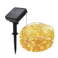 Solar LED Copper Wire String Light 100LEDs 200LEDs 10meters 20meters IP65 waterproof white warm white RGB string lights