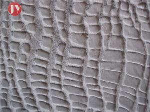 China 100% Polyester Plush Faux Fur Fabric Warp Knitting Glue Printed Crocodile on sale