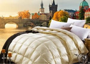 China 100%綿の軽量のアヒルはすべての季節の羽毛布団をキルトにします on sale