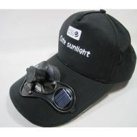 China Solar Fan Cap--Bamboo on sale