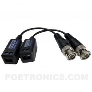 China PVB-EC04(400-600m) BNC Male to Screw Terminal Passive CCTV Video Balun transmitter on sale