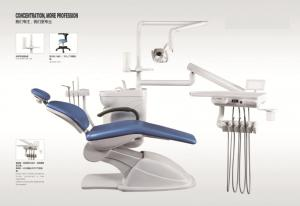 China Fashionable NV-D318 Dental Chair Unit Silver Blue Color 1450*1100*1120 on sale