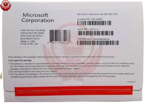 China French Activation Online Win 8.1 32 Bit 64 Bit Operating System Pro Retail Box on sale