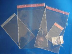 China Clear Plain Header Self Adhesive OPP Bags / OPP Header Bag / OPP Cellophone Gift Bag on sale