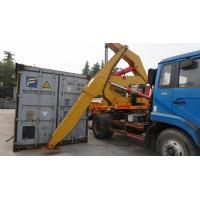 TITAN side loader forklift load and off-load a 40 foot container side load box loader trailer