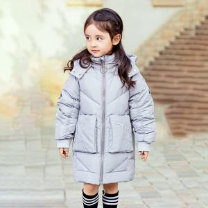 China New Fashion Design High Quality Warm Clothing White Duck Down Kids Girls Winter Down Jackets on sale