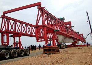 China 150 Ton Trussed Type Bridge Launcher Crane For Road Construction 2 Years Warranty on sale