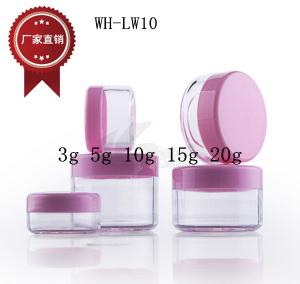 Quality 3g 5g 10g 15g 20g palstic round cosemtic jar for eye cream,face cream for sale
