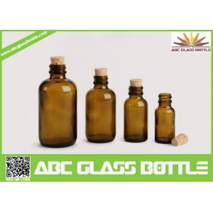 China High Quality Amber Cork Pharmaceutical Glass Bottles Brown Color on sale