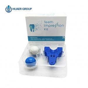 China Polysulfide elastomeric silicone dental impression material putty kit for one person on sale