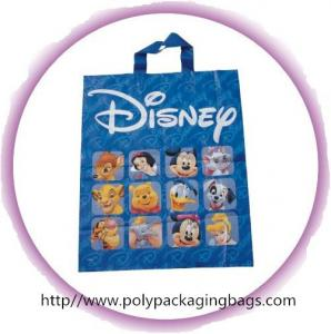 China Fashion Blue Disney Soft Loop Plastic Handle Bags Promotional on sale