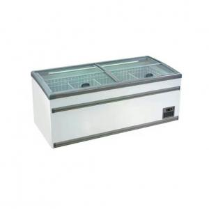China Hypermarket Commercial Chest Freezer With Alluminum , Coated Plate , Glass Material on sale