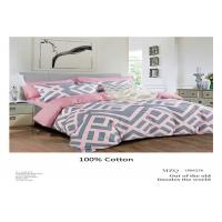 Classic Cotton Pink And Grey Bedding Sets For Home Hand Or Machine - Washed