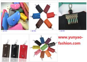 China Leather Key Bags Key Case Key Holder Wallet with Hook on sale