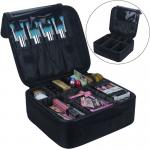 Portable Professional Makeup Train Case With Free Match Removable Baffle