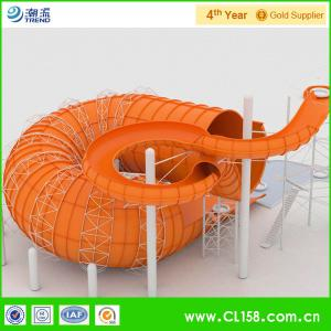 Quality Water Play Equipment Tornado Slide Fiberglass Water Slides with 18m Height Tower for sale