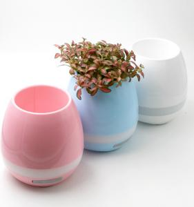 China New LED Wireless Bluetooth Speakers plastic plant Pot Funny Cute Design on sale