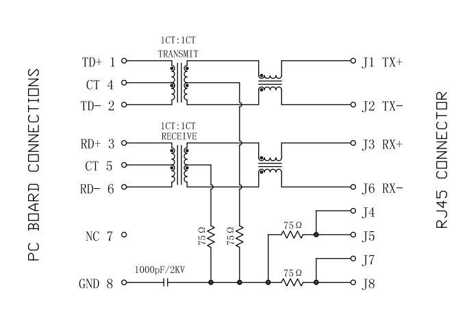 MIC24210-0104T-LF3 10/100M AutoMDIX Magnetic LPJ0011DNL RJ45 Jack
