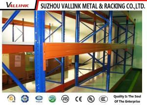 China Upright Frame Warehouse Shelving Units Blue And Orange Color Width 1000MM on sale