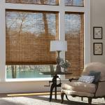 Durable Manual Roller Blind Outdoor Reed Shades For Sun Protection SGS