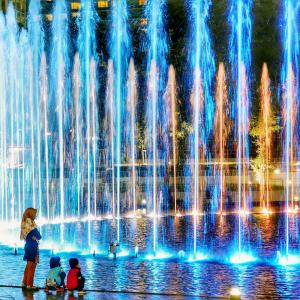 China DMX control RGB Modern style musical dancing water fountain price on sale