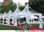 10x10' Pagoda Party Tent With Strong Waterproof  Transparent PVC