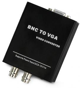 China Bnc to vga converter Support DC5-12V wide voltage aluminum case on sale