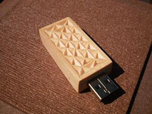 China Eco-friendly wooden USB flash drive on sale