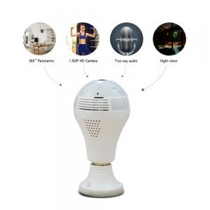 China Factory Best price in Newest Motherboard H.264+ 360 degree sengled home security light bulb camera wifi cctv spy cameras on sale
