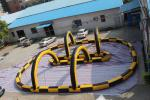 China Fireproof Material Inflatable Race Track For Karting Yellow & Black wholesale