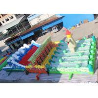 Huge Outdoor Inflatable Sports Games / Obstacle Course 100m Length Safe Durable