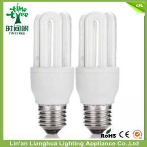 China Halogênio 3 U - ampolas fluorescentes/lâmpadas fluorescentes dadas forma do estojo compacto com pó alto on sale
