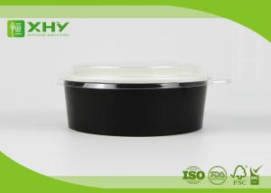 China Custom printed clear salad paper bowls / food containers with lids on sale