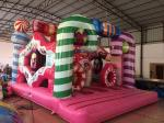 Digital Printing Inflatable Candy Bounce House For Christmas Festival