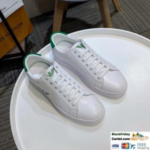 China Amani 2019 New Men's Green Leather Fashion Casual Shoes on sale