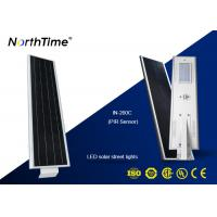 China Bridgelux LEDs Outdoor Solar Light Street Lamp With Sensor 5-7 Rainy Days on sale