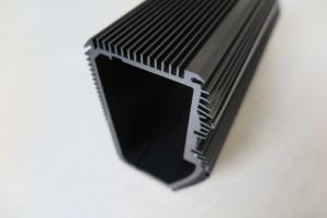 China Black Anodized Extruded Aluminum Heat Sink , CNC Machined Aluminum Radiators on sale