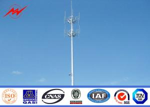 China 70m Self Supporting Galvanized Pole Monopole Antenna Tower With Powder Painting on sale