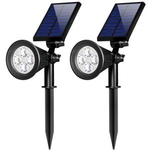 China Rechargeable 4 Led Solar Sensor Light , Solar Powered Spotlights Outdoor on sale