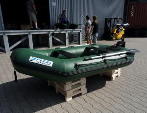 China Heavy Duty Army Green Marine Inflatable Fishing Dinghy / Boats With 2 Chamber on sale