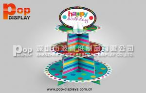 China Colorful 3 Tiers Cupcake Display Stands For Birthday Cakes Promotion on sale