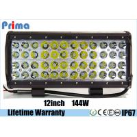 China 12 4 Rows Led Jeep Light Bar Quad Row 144W For Off road Vehicles Combo Spot Flood Light on sale