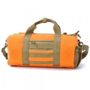China Custom Large Travel Duffel Bags Orange Sport Duffel Bags for Men on sale