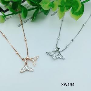 China 925 Sterling Silver Star Moon CZ Charm Choker collarbone chain necklace  WX194 on sale