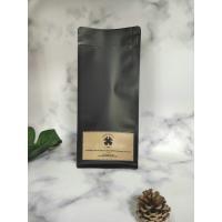 Brown Paper Custom Printed Coffee Bags With Top Zip Lock Environment Friendly